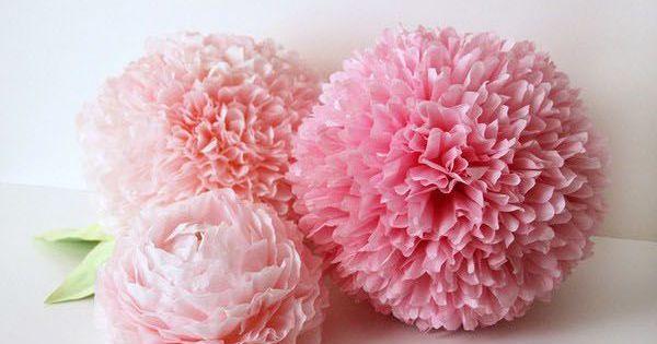 Lit Paper Flower Centerpieces