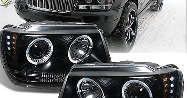 Details About Black 1999 2004 Jeep Grand Cherokee Led Dual Halo