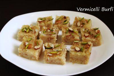 Easy Dessert Recipes Vermicelli Burfi Dessert Recipes Easy Dessert Recipes Easy Delicious Recipes