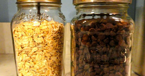 Dress up sauce jars for pretty storage. Love this idea for recycling.