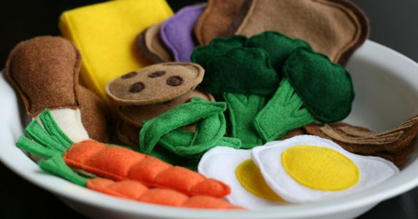 Play food made of felt for the little ones, looks like an