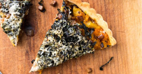 Kuri Squash, Mushroom and Kale Tart with Rosemary Crust ...