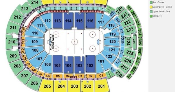Nationwide Arena Seating Chart With Rows Seating Charts Chart Disney On Ice