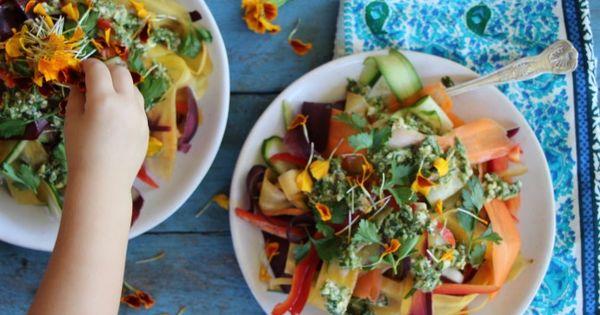 rainbow ribbon salad | Yummy | Pinterest | Wooden Spoons, Rainbows and ...