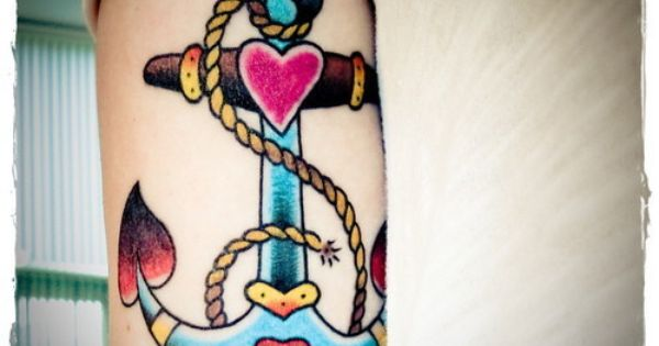 Yet another tattoo idea, opinions wanted! : wedding anchor tattoo colored tattoo