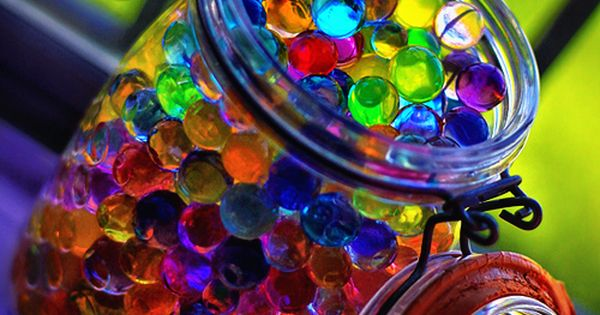 Water marbles! Crazy how a few kitchen ingredients will make these. Weird,