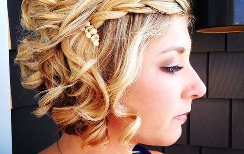 50 Hottest Prom Hairstyles For Short Hair Curly Blonde