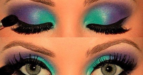 mermaid eye makeup