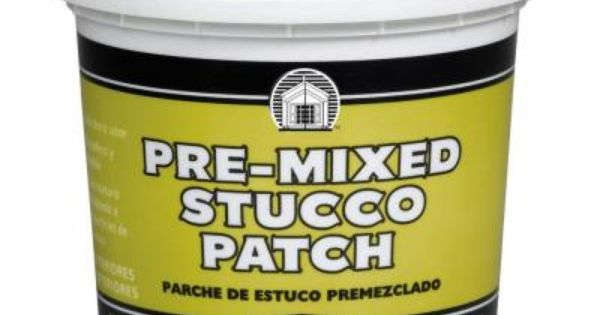Phenopatch Pre Mixed Stucco Patch 1 Qt Off White Stucco Patch And Patches