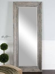 White Full Body Length Mirror Rustic