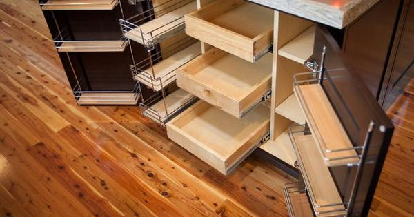 Blog Cabin 2012: Kitchen Pictures: Undercounter island storage includes a supercabinet that