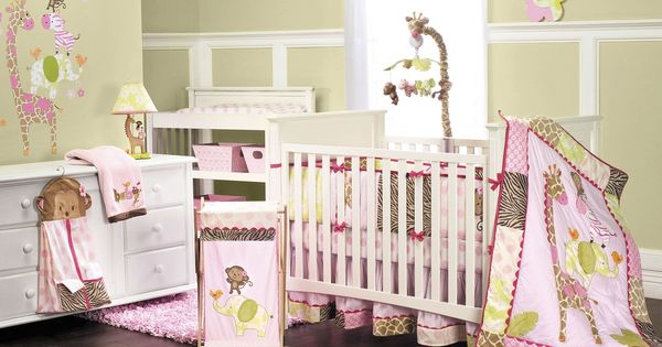 Carter's Jungle Jill 4-Piece Crib Set Set includes quilt, crib 4- sided