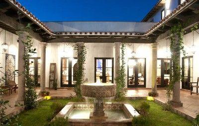 Pin By Sook Yoon On Houses Hacienda Style Homes Courtyard House Plans Hacienda Style