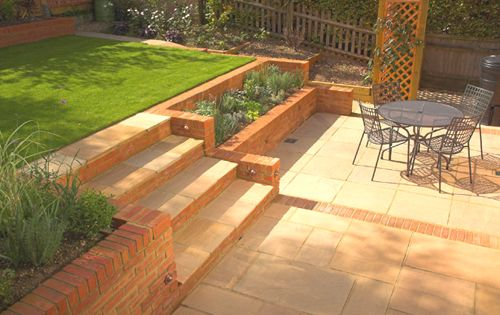Small sloping garden design gardeners in london for Small sloping garden designs