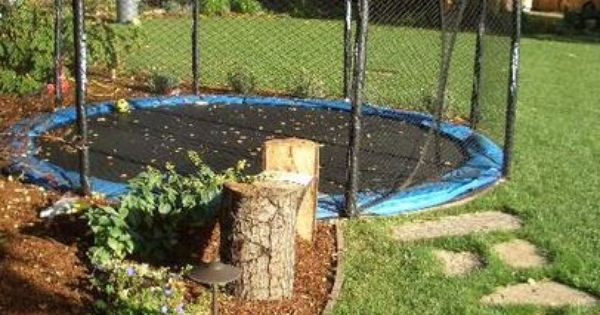 Trampoline Landscaping Ideas Google Search In Ground Trampoline Modern Landscaping Backyard Trampoline