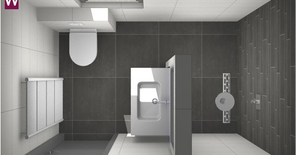 Het idee van veel mensen een kleine badkamer met grote tegels dit is helemaal geen verkeerde - Badkamer plan m ...