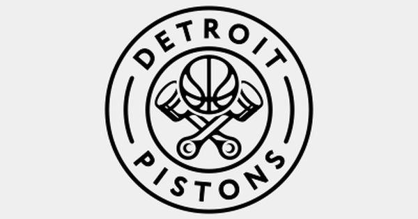 Detroit Pistons Logo Design V2 B W Pistons Logo Detroit Pistons Logo Design