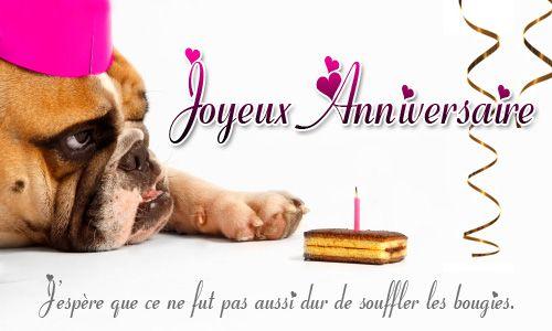 Carte Anniversaire Chien Happy Birthday In French