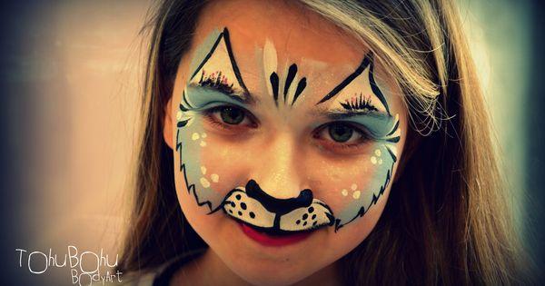 blue cat maquillage chat pour enfant proyectos que intentar pinterest. Black Bedroom Furniture Sets. Home Design Ideas