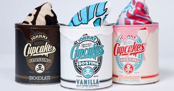 Clever package design for new range of shirts by Johnny Cupcakes. Tin