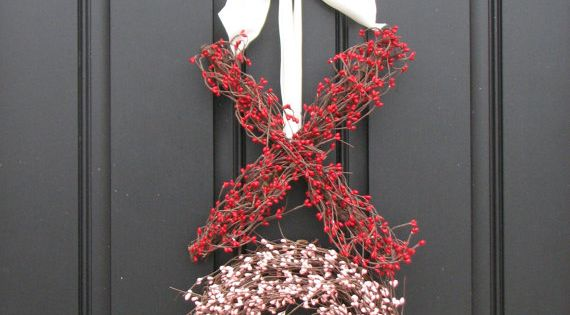 Valentines day wreath for the front door!