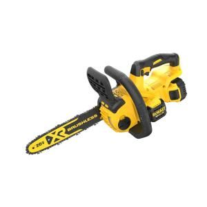 Dewalt 20 Volt Max Lithium Ion Cordless 12 In Brushless Chainsaw W 1 5 0ah Battery And Charger Dccs620p1 The Home Depot In 2020 Cordless Chainsaw Chainsaw Dewalt
