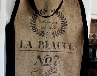Baker's apron from burlap sack.