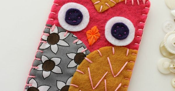 Felt Owl Phone Case Cozy iPhone crafty