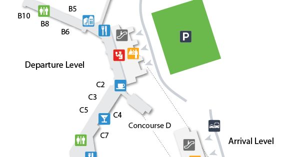 BNA Nashville International Airport Terminal Map
