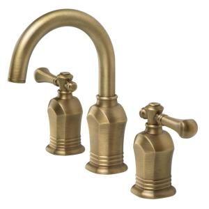 Pegasus Verdanza Series 8 In Widespread 2 Handle High Arc Bathroom Faucet In Antique Brass 67389w 8024h The Home Depot Brass Bathroom Faucets Antique Brass Bathroom Faucet High Arc Bathroom Faucet