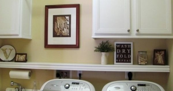 Laundry Room Idea Love The Shelf Hanging Bar And Must Have