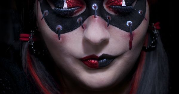 harley quinn makeup with tutorial by katiealves deviantart
