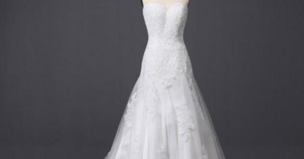 ... lange Schleppe manierlich Brautkleid mit Spitze  DAS Kleid