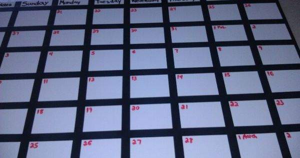 Made Our Own White Board Calendar Using Board From Lowe S