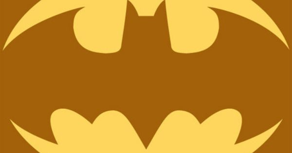 batman symbol pumpkin carving pattern (Jake's pumpkin 2012)