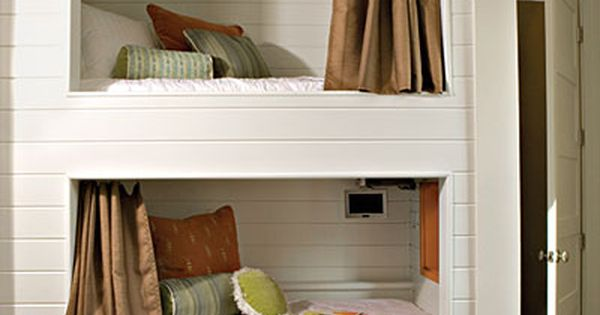Bunk Bed Cubbies- Each of these bunk bed cubbies in a shared