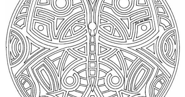 Kleurplaten Vlinder Hoedje.Kleurplaat Mandala Vlinder Maske Schmetterling Basteln Masken