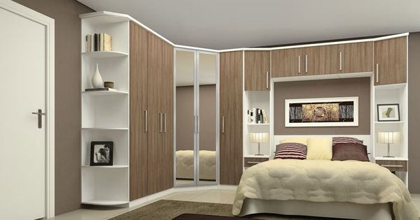 Quarto pequeno planejado home pinterest - Armarios pequenos dormitorio ...