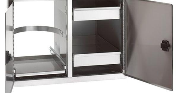 Fire Magic Legacy 20 X 30 Double Access Doors W Dual Drawer Tank Trash Tray Locker Storage Outdoor Kitchen Kits Double Doors