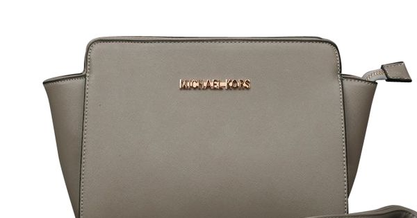 High Quality Michael Kors Selma Messenger Medium Grey Crossbody Bags Sale With