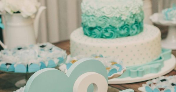 noivado azul tiffany e branco | blue and white engagement party