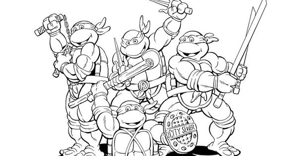 tmnt coloring pages on pinterest - photo#41