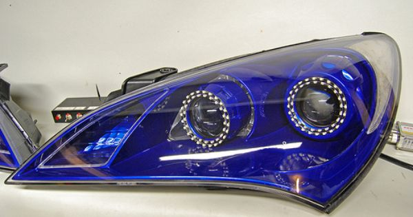 blue switchback led dual projector retrofit for hyundai genesis coupe headlights by flyryde. Black Bedroom Furniture Sets. Home Design Ideas