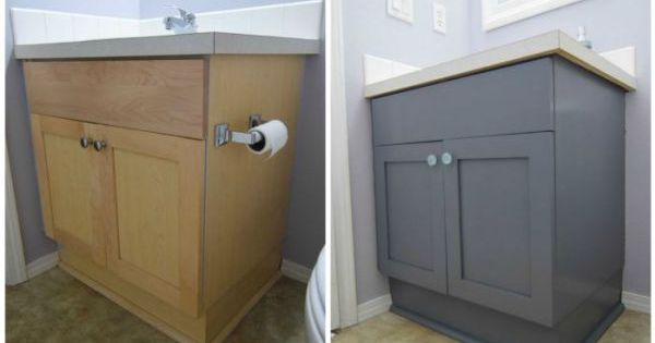 How To Paint Your Bathroom Vanity The Easy Way Behr And Porch