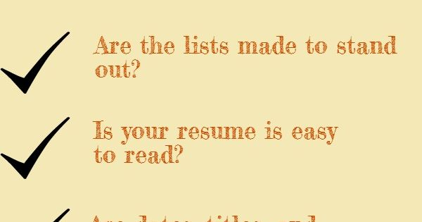 Check Out This List Before You Send Out Your Resume