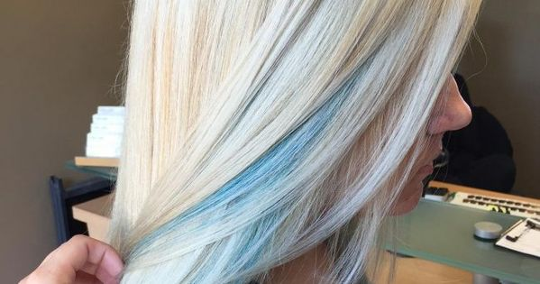 Blue Peek A Boos On Icy Blonde Hurr Did Pinterest