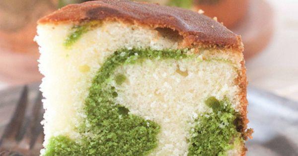 Pistachio marbled cake! Yum!