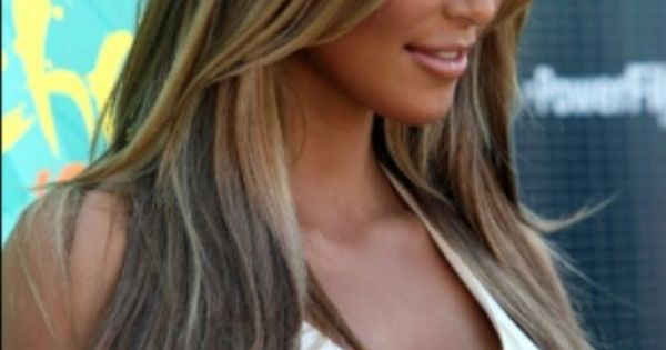 Kim K Hair Color Blonde And Light Brown Lovely Hair
