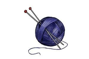 How to draw a ball of yarn | Yarn painting, Knitting room, Yarn