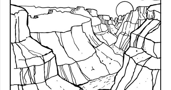 Grand canyon Coloring page at GilaBen